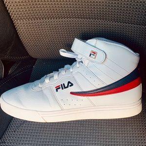White Hight Top Vulc 13 Men's Fila Athletic Shoe